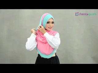 RANIAA Contrast Edge Shawl Video Tutorial by Chenta Qaseh