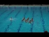 Патриотичное синхронное плавание